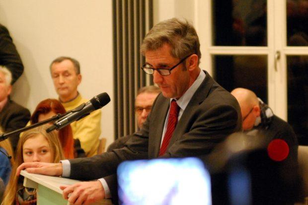 Frank Richter in der Zentrale für politische Bildung Sachsen 2015. Foto: Michael Freitag