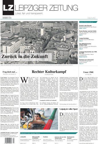 Zum Vergrößern anklicken. Die LEIPZIGER ZEITUNG Nr. 53 vom März 2018. Titelbild Pro Leipzig Verlag