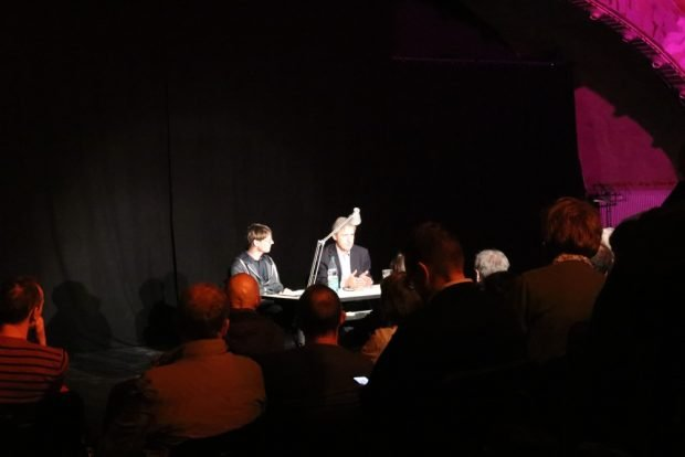Die Lesung von Frank Richter am 15. März 2018 im Ostpassage Theater Leipzig. Foto: Michael Freitag