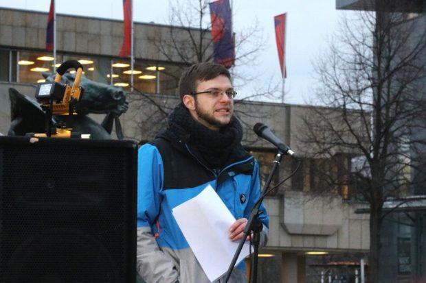 """René Arnsburg vom """"Manifest""""-Verlag. Foto: L-IZ.de"""