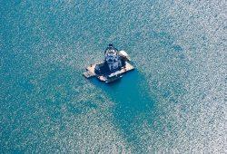 VINETA auf dem Störmthaler See. Foto: Bernhard Witt