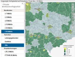 Breitbandtatlas: der Flickenteppich Sachsen. Grafik: BMVI