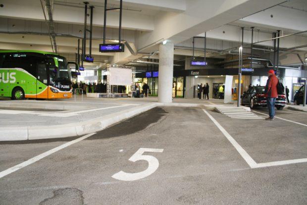 BusGate 5 mit Blick zu den Dienstleistungseinrichtungen. Foto: Ralf Julke