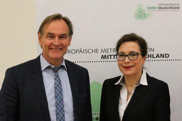 Burkhard Jung und Antje Strom. Foto: Metropolregion Mitteldeutschland