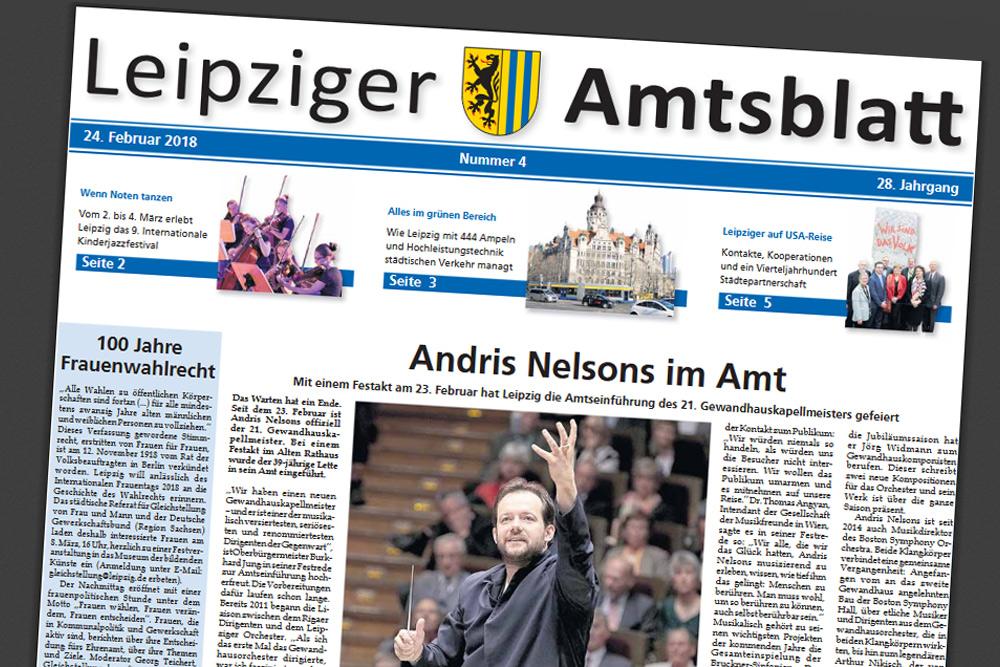 Gibt's auch digital: Leipziger Amtsblatt. Screenshot: L-IZ