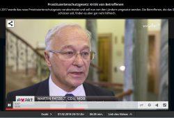 Martin Patzelt in der Exakt-Sendung vom 7. Februar. Screenshot: L-IZ