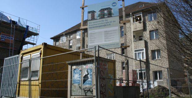 Sanierung in der Brandvorwerkstraße. Foto: Ralf Julke