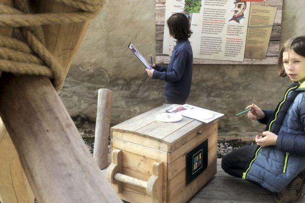 Hofschatzsuche im Unikatum Kindermuseum. Foto: Unikatum