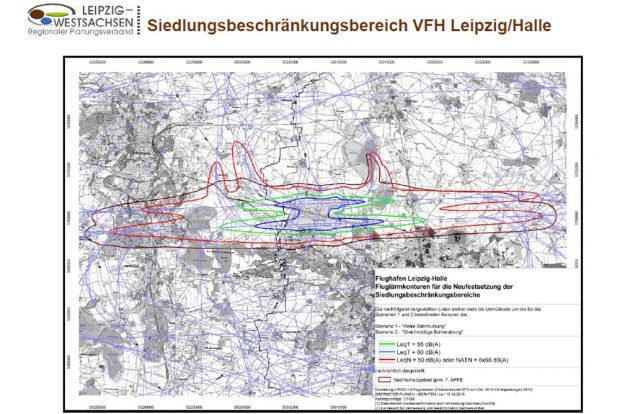 Die neu definierten Siedlungsbeschränkungsbereiche. Grafik: RPV Westsachsen, 2016