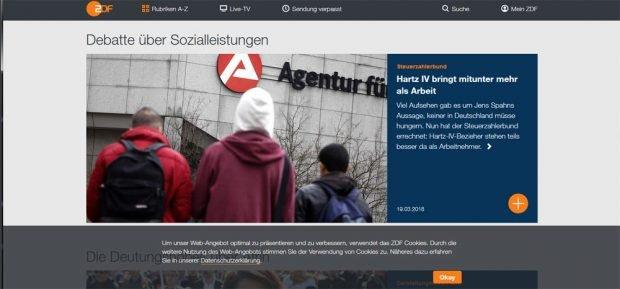 """Der Unfug auf der Seite von """"ZDF heute"""". Screenshot vom 13. März, 17.50 Uhr: L-IZ"""
