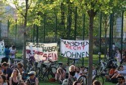 """Ausklang der """"Leipzig für Alle""""-Demo am 20. April 2018 am Rabet an der Eisenbahnstraße. Foto: L-IZ.de"""