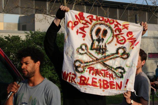 Berichte von den Auseinandersetzungen am Jahrtausendfeld mit der Stadtbau AG. Foto: L-IZ.de