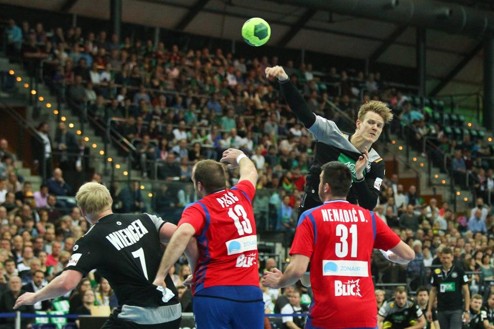 Heimspiel für DHfK-Handballer Niclas Pieczkowski. Foto: Jan Kaefer