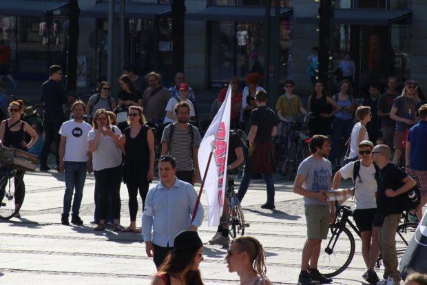 Die PARTEI war auch am Start - zumindest ein bisschen. Foto: L-IZ.de