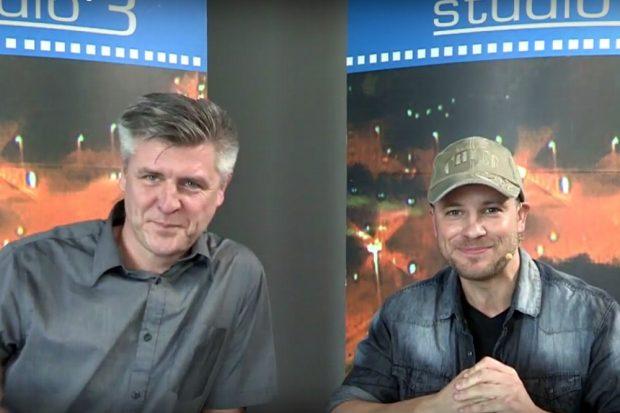 Norman Landgraf und Martin Hoch mal wieder auf einem wilden Ritt durch den lokalen Sport in Leipzig. Foto: Screen Heimspiel TV