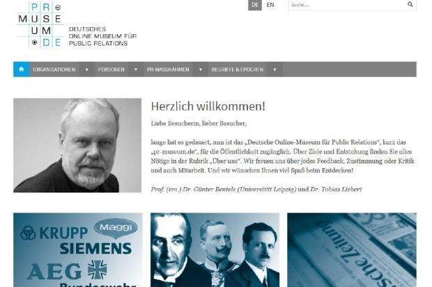 Screenshot des neuen Informationsportals. Foto: pr-museum.de