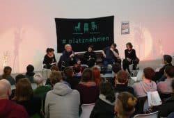 "Podiumsdebatte des Aktionsnetzwerkes ""Leipzig nimmt Platz"" am 6. April 2018. Foto: Luca Kunze"