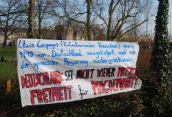 Kundgebung für Puigdemont auf dem Leuschnerplatz. Foto: René Loch