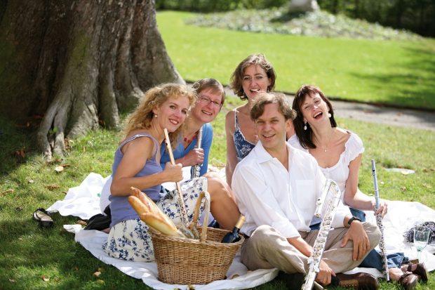 Das Leipziger Querflötenensemble Quintessenz, Foto: PR