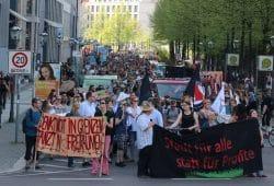"""""""Leipzig für Alle"""" - Demo am 20. April 2018 auf dem Weg zum Ring. Foto: L-IZ.de"""