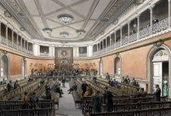 Blick in den Konzertsaal des Alten Gewandhauses, Gottlob Theuerkauf, 1884. Foto: Stadtgeschichtliches Museum Leipzig
