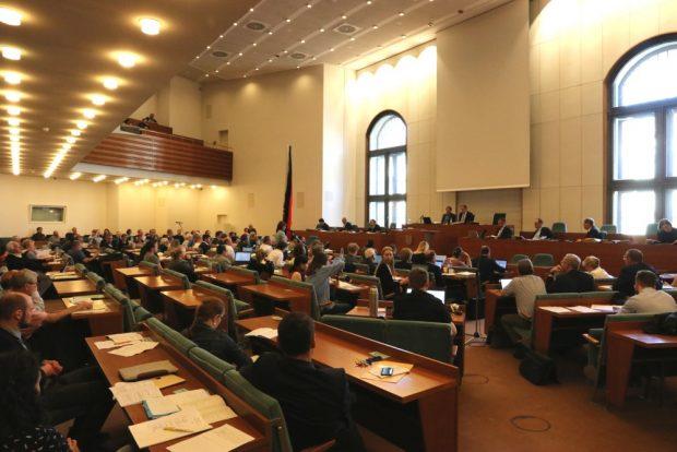 Die Ratsversammlung im Leipziger Neuen Rathaus. Foto: L-IZ.de