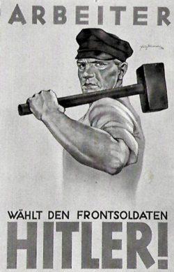 Wählt Hitler – Die Posen waren schon 1932 gesetzt: Nach der letzten Wahl 1933 gab es zu Wahlwerbung keine Veranlassung mehr. Foto: Cigarettenbilder-Dienst Hamburg, gemeinfrei