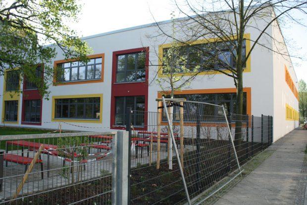Der Neubau der Fritz-Baumgarten-Schule. Foto: Ralf Julke