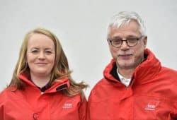 Das sächsische Führungsduo des DGB, Anne Neuendorf und Markus Schlimbach. Foto: DGB Sachsen