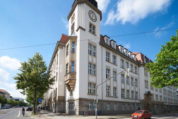 Geutebrück-Bau der HTWK Leipzig. Foto: Stephan Floss