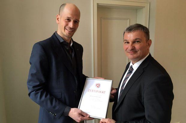 Dr. Rasmus Sperber und Steffen Leonhardi. Foto: Agentur für Arbeit