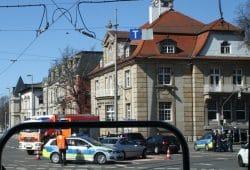 Verkehrsunfall auf dem Martin-Luther-Ring. Foto: Ralf Julke