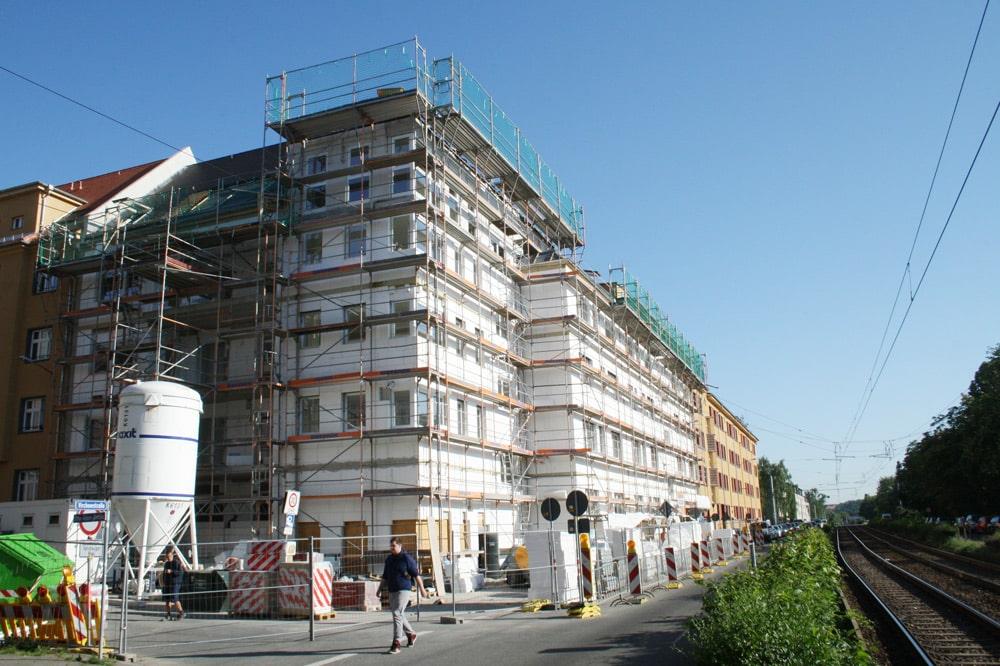 Neubau in der Virchowstraße. Foto: Ralf Julke