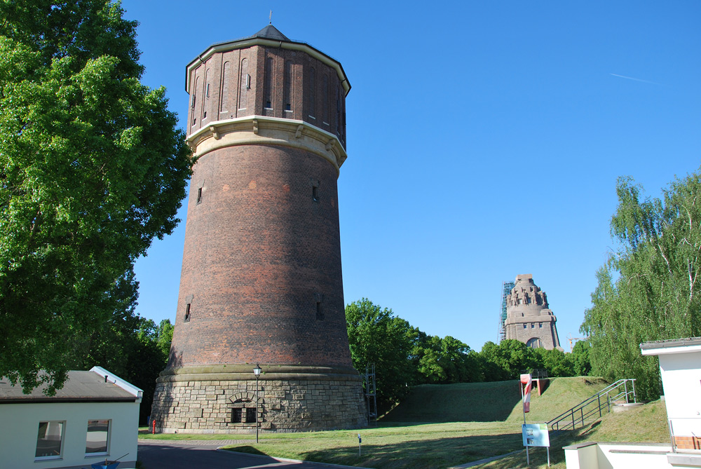 Der Wasserturm Probstheida. Foto: KWL