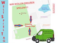 390-Grünau bewegt sich Weltspieltag Lageskizze, Grafik: Gesundheitsamt