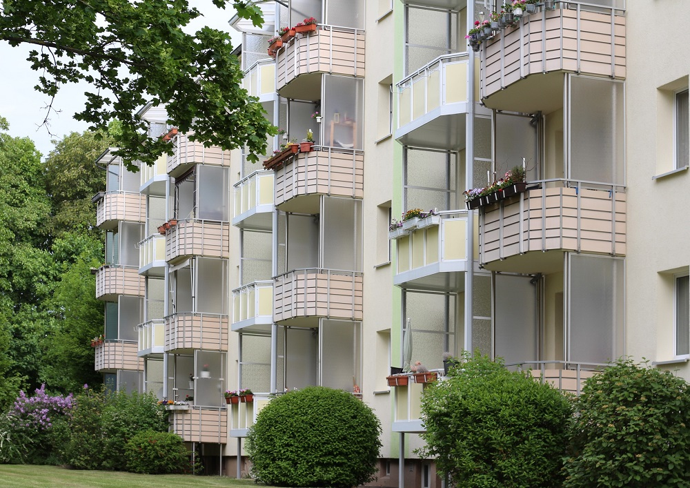 Balkonfassaden Ameisenstraße, Foto: WG Elsteraue