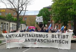Antifa-Demo am 1. Mai 2018 in Chemnitz. Foto: René Loch