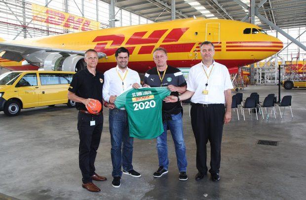 Mal wieder Partner, Handballer und DHL, Foto: Deutsche Post DHL Group