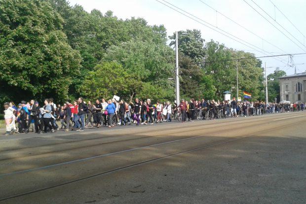 IDAHIT-Demonstration in Leipzig. Foto: René Loch