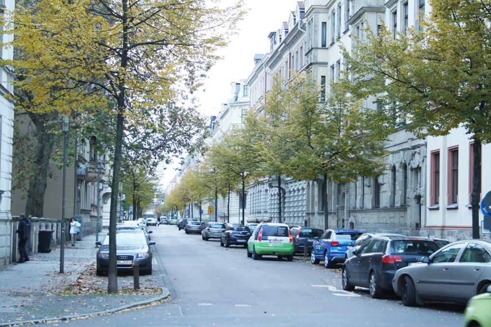 Gustav-Adolf-Straße im Waldstraßenviertel. Foto: Ralf Julke
