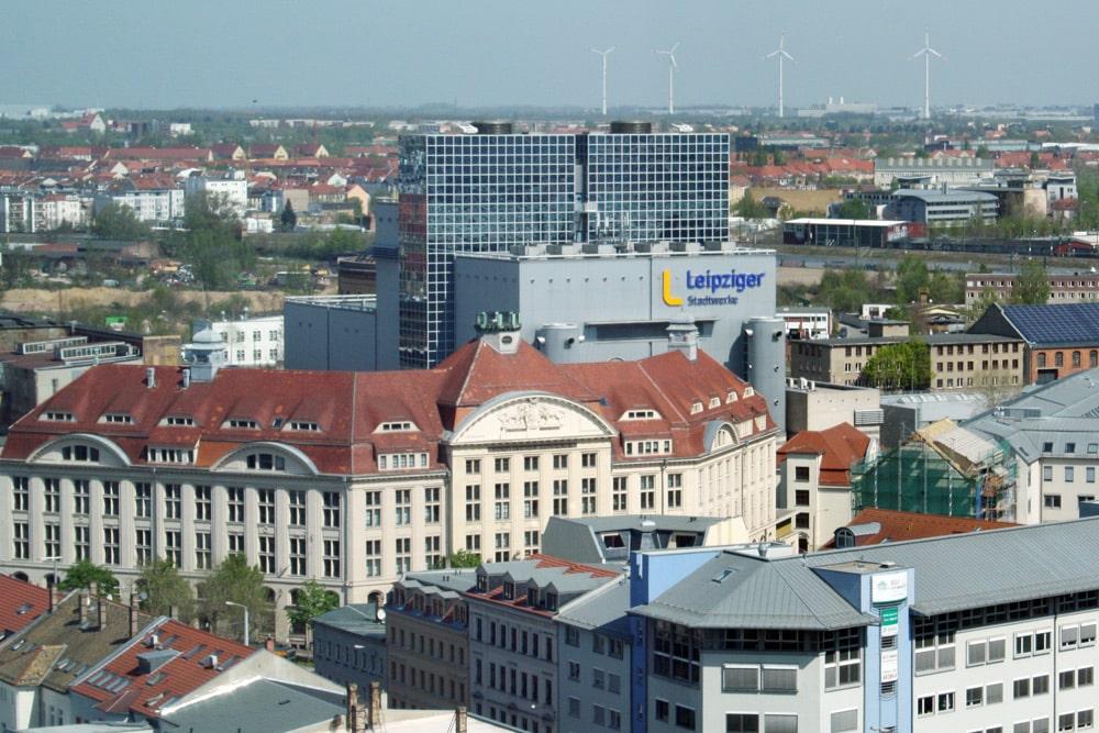 Die GuD-Anlage der Stadtwerke Leipzig in der Eutritzscher Straße. Foto: Ralf Julke