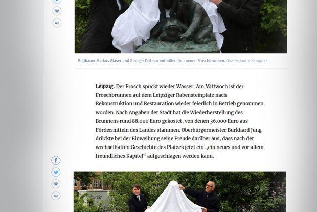 Für LVZ Online war der OBM vor Ort. Screenshot vom 3. Mai, 10 Uhr: L-IZ