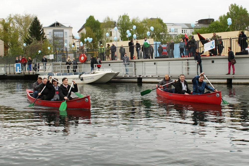 Eröffnung der Stadthafen-Mole 2014. Foto: Ralf Julke