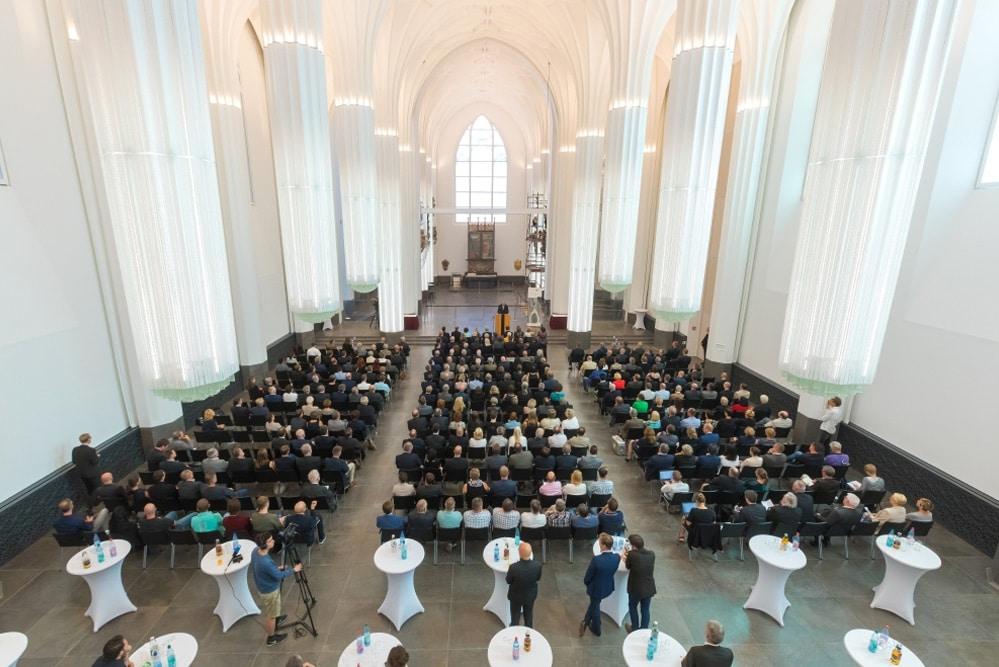 Bauabschlussfeier des Freistaates Sachsen im Paulinum am 23. August 2017. Foto: Swen Reichhold / Universität Leipzig