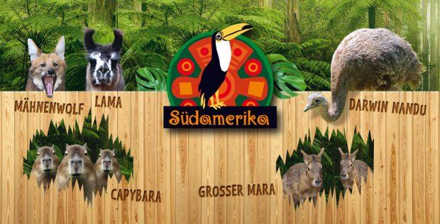 Diese Tiere werden im neuen Südamerika-Teil zu sehen sein. Grafik: Zoo Leipzig