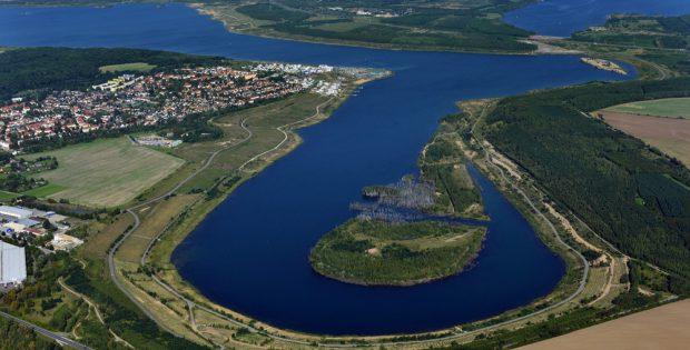 Das Ostufer des Zwenkauer Sees - oben der Cospudener See. Foto: LMBV, Radke