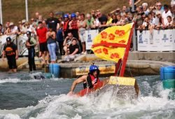 Kanupark_Pappbootrennen, Foto: KPM