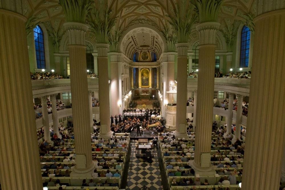 Auch in der Nikolaikirche finden zum Bachfest 2021 Konzerte mit kleinem Publikum statt. Foto: Bachfest Leipzig/Gert Mothes
