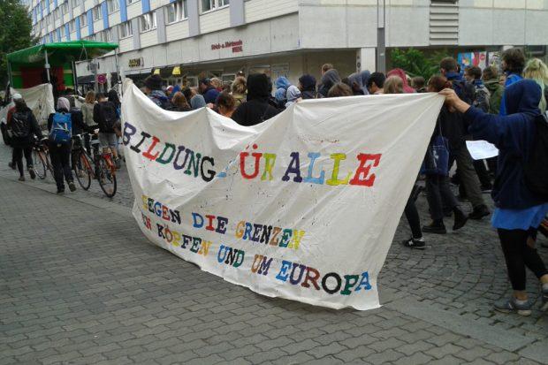Protest gegen Abschiebungen. Foto: René Loch