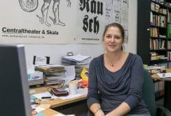 Juniorprofessorin Dr. Veronika Darian in ihrem Büro. Foto: Swen Reichhold / Universität Leipzig
